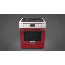 "30"" All Gas Range - Glossy Red"