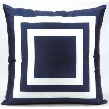 "Outdoor Pillow As551 Navy 20"" X 20"" Throw Pillow"