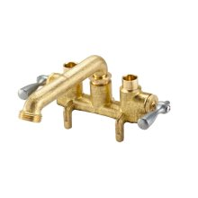 Rough Brass Gerber Classics Two Handle Clamp On Laundry Faucet W/ Direct Sweat Connections -threaded Spout 2.2GPM