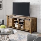 "Cheshire 71"" Rustic Sliding Door TV Stand in Walnut Product Image"