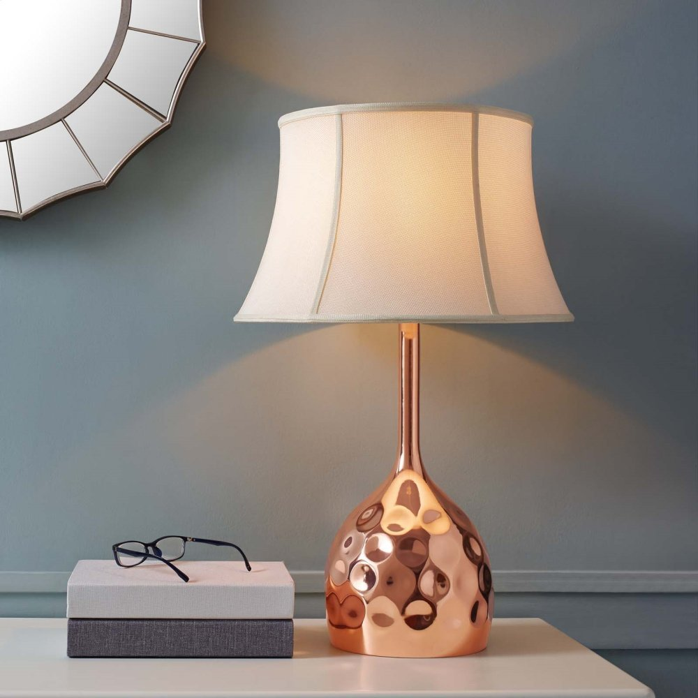 Dimple Rose Gold Table Lamp