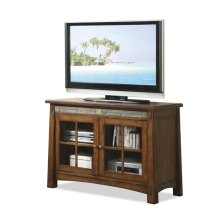 Craftsman Home 45-Inch TV Console Americana Oak finish