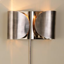 Folded Sconce-Antique Silver/Nickel