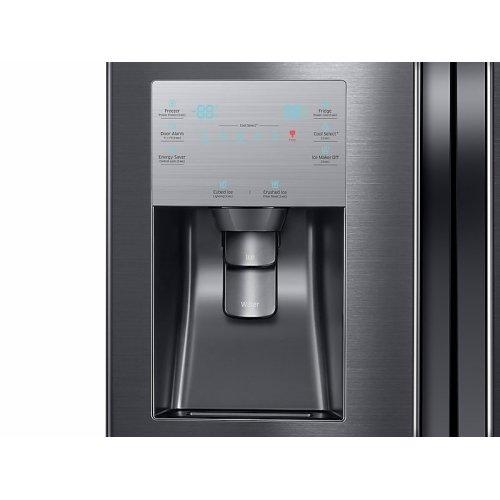 23 cu. ft. Counter Depth 4-Door Flex Refrigerator with FlexZone in Black Stainless Steel