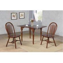 DLU-ADW3448-820-CT3PC  3 Piece Drop Leaf Dining Set  Chestnut with Arrowback Chairs
