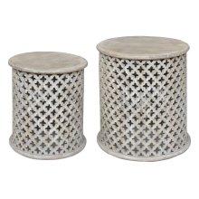 Bengal Manor Mango Wood Pierced Set of Tables