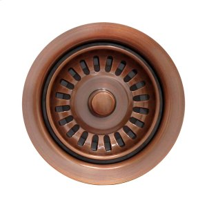 Waste Disposer Trim for deep fireclay sink applications. Includes matching basket strainer. Product Image