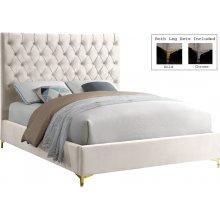 "Cruz Velvet Bed - 59.5"" W x 81.5"" D x 56"" H"