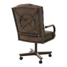 Pastel Crescent Caster Chair