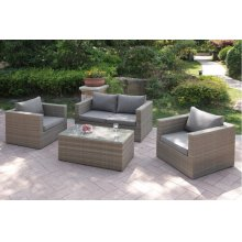 403 / Liz.p27- 4PC OUTDOOR PATIO SOFA SET [P50149(1)+P50147(2)+P50151(1)]