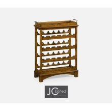 Four-Tier Wine Shelf in Country Walnut