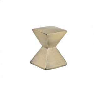 Antique Brass Forged 2 Large Square Knob 1 1/8 Inch Product Image