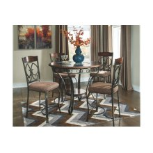 Glambrey Round Dining Room Set: Counter Height Table & 4 Chairs