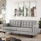Empress Upholstered Fabric Sofa in Light Gray Product Image