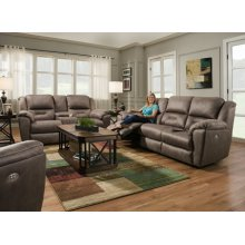 Power Leather Console Loveseat with Power Headrest *Special Pricing-Maximus Leathers Only*