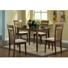 DINING SET - 5PCS SET / WALNUT FINISH Product Image