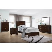 1006 Agathis Twin Bed with Dresser & Mirror Product Image