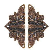 Cicada on Leaves - Dark Solid Bronze
