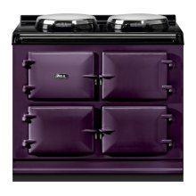 """AGA Total Control 39"""" Electric Aubergine with Stainless Steel trim"""