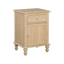 Unfinished Cottage 1 Drawer Nightstand