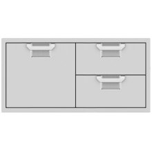 Double Drawer and Storage Door Combination, 42""