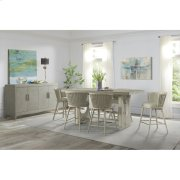 Lilly - Upholstered Windsor Counter Stool - Champagne Finish Product Image