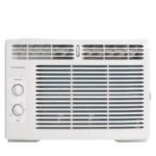 "ffra05l1r1 3.6 out of 5 stars. Read reviews for 5,000 BTU Window-Mounted Room Air Conditioner 3.6 ( 9 ) Write a review . This action will open a modal dialog. This product is available at select retailers. Register This Product Guides & Manuals expand English Espa ol Fran ais Complete Owner's Guide Download Email Wiring Diagram Download Email Installation Instructions Download Email Energy Guide Download Email Propietario completa Gu a Download Email Instrucciones de instalaci n Download Email Guide d'utilisation complet Download Email Instructions d'installation Download Email FAQs expand What is the proper way to clean my air filter"" The air filter should be checked at least once a month to see if cleaning is necessary. Be sure to unplug the unit before cleaning to prevent shock or fire hazards. To clean the filter, open the front panel and remove. The air filter is reusable and may be cleaned using liquid dishwashing detergent and warm water. After cleaning allow the filter to thoroughly dry before replacing. You may also vacuum the air filter to remove excess dirt and particles. Can my room air conditioner be covered while in use to prevent outdoor debris from getting inside vents"" Proper air flow into the air conditioner is essential for performance and safe operation. Under no circumstances should you block or cover any exterior or interior vents of the unit. How does the power cord work on my air conditioner"" When should I test the plug"" For your safety all Frigidaire air conditioners feature a 3-prong grounding plug and current leakage detection device. These enhanced plugs help to detect damages to the power cord and can be tested following a few simple steps. 1. Press the reset button 2. Plug the cord into the power outlet 3. Press the test button, the reset button should pop up 4. Press reset button for use 5. Do not use room air conditioner if above test fails. For more information please consult your use and care manual. What is the additional vent located under my air louvers"" On select models, you may notice a small tab identified with Open / Fresh Air / Closed. This fresh air vent allows the air conditioner to: 1. Recirculate inside air - Vent Closed 2. Draw fresh air into the room - Fresh Air 3. Expel indoor air outside - Vent Open. Note: When in the cool mode fresh air venting or exhaust venting will affect cooling and decrease performance. I have noticed water dripping outside of my room air conditioner, is this normal"" Water dripping outside is a normal function of the room air conditioner, especially during periods of excessive humidity. If condensation need to be directed, window air conditioners have a key hole drain in the bottom of the unit where one could connect a 1/2"" drain hose for safe disposal of excess system water. Part: EA150D / 5304481680. Never drill holes into the bottom of the room air conditioner to remove water. If water is dripping inside the room during the cooling, this is due to improper installation. Please refer to installation instructions or check with your local installer. I have noticed that my ENERGY STAR air conditioner is frequently in Econ mode"" For all new ENERGY STAR products the EPA has regulated that all ENERGY STAR air conditioners must be factory set to Energy Saver (Econ) mode. If you turn the room air conditioner off in cool mode, and restart the unit it will default back into Energy Saver mode. You may select out of Energy Saver mode by selecting the mode button, however we recommend using the feature to help save energy. What is Econ mode"" Econ mode, or Energy Saver mode, is a setting that works similar to central AC. The room air conditioner will turn off once the set temp is reached; the fan then cycles on (for 20 sec.) every 10 min to sample the air temp. If the room temp is above the set temp, the compressor will turn back on. Since the room air conditioner is not running at all times, this setting will help save energy while ensuring the room temperature stays at the set temperature. What does the Clean Air button do"" When this feature is on, the electronic air purifier is energized to remove pollen and impurities from the air. To cancel this feature, press the Clean Air button. What is a BTU"" It is a professional term rating an air conditioner. BTU stands for British Thermal Unit - the quantity of heat required to raise the temperature of one pound of water one degrees Fahrenheit. The higher the BTU the larger space the room air conditioner will cool. What size window unit do I need"" The size of the window unit needed will depend on the size of the room you wish to cool. To determine which size you need, measure the width of the room by the length and multiply those numbers together to determine the square footage. What happens if I lose power"" After a power outage, the unit will memorize the last setting and return the unit to the same setting once power is restored. What does Sleep Mode mean"" When this mode is enabled, the selected temperature will increase by 2 °F 30 minutes after the mode is selected. The temperature will then increase by another 2 °F after an additional 30 minutes. This new temperature will be maintained for 7 hours before returning to the originally selected temperature. This ends the ""Sleep"" mode and the unit will continue to operate as originally programmed. You may also cancel sleep mode at any time by again pressing the sleep button. Why is my room air conditioner making noise"" Room Air Conditioners, during operation, may make noise. It is normal to hear high pitch chatter' a sound of rushing air, gurgle/hiss, pinging or swishing and vibration. These are all normal. For more definition of noises, please refer to your product's Use and Care guide. How do I store my room air conditioner for winter storage"" If you plan to store the air conditioner during the winter, remove it carefully from the window according to the installation instructions. Cover it with plastic or return it to its original carton. NOTE: To prevent rust or electrical connections from being damaged, store air conditioner in an upright position and a dry place. Why is my Filter Reset light on"" This feature is a reminder to clean the Air Filter (refer to Care and Cleaning section of the Use and Care Guide) for more efficient operation. The LED light will illuminate after 250 hours of operation. After cleaning the filter, plug the unit back into the power source and reset the filter by pressing the Filter Reset' button and the light will go off. Specifications expand print GENERAL SPECIFICATIONS Power Type: Size: Installation Type: Collection: Reviews expand Reviews Write a review . This action will open a modal dialog. Rating Snapshot Select a row below to filter reviews. 5 stars 2 2 reviews with 5 stars. Select to filter reviews with 5 stars. 4 stars 5 5 reviews with 4 stars. Select to filter reviews with 4 stars. 3 stars 0 0 reviews with 3 stars. Select to filter reviews with 3 stars. 2 stars 0 0 reviews with 2 stars. Select to filter reviews with 2 stars. 1 stars 2 2 reviews with 1 star. Select to filter reviews with 1 star. Average Customer Ratings Overall 3.6 1-8 of 9 Reviews Sort by: Most Recent Menu Most Helpful Highest to Lowest Rating Lowest to Highest Rating Most Recent Filter Reviews Clicking on the following button will update the content below Rating Menu Filter by Rating 1 star 2 stars 3 stars 4 stars 5 stars Active Filters 1 star Remove Filter 2 stars Remove Filter 3 stars Remove Filter 4 stars Remove Filter 5 stars Remove Filter Clear All Clear All Filters * Incentivized review 4 out of 5 stars. Tim and Susan 11 months ago Works great. Our large room, 13x15 with almost 10 foot ceilings takes a little while to cool down. However, once it is cool this unit can keep it that way. Easy to install. Yes , I recommend this product. Helpful"" Yes 0 0 people found this review helpful. Click to agree. No 0 0 people did not find this review helpful. Click to agree. Report Response from Frigidaire: Online Outreach Representative 10 months ago Hi, Tim and Susan. Thanks for your rating and feedback about your Frigidaire 5,000 BTU Window-Mounted Room Air Conditioner. We always appreciate our fellow Frigidaire ambassadors who take the time to give us their feedback. Happy to hear you are enjoying the performance of your air conditioner unit. Should you need us, we can be reached at 888 203 1389. Our Customer Care Team is available Monday through Friday from 8am-8pm EST and Saturday from 9am-6pm EST. Regards- Derrick * Incentivized review 5 out of 5 stars. Mmont 11 months ago Freezing! I bought this air conditioner in May, it is not September and I'm still loving it! Even on the most humid hundred degree days this little air conditioner kept my room freezing. Its also very efficient, as my electric bill remained unaffected all summer. Yes , I recommend this product. Helpful"" Yes 0 0 people found this review helpful. Click to agree. No 0 0 people did not find this review helpful. Click to agree. Report Response from Frigidaire: Online Outreach Representative 10 months ago Hiya, Mmont. Thank you for the wonderful comments. We aim to please! Great to hear our home comfort appliance is keeping cool even on those muggy days and saving you some coins! Should you need us or have any additional questions about your air conditioner's features, please contact us at 888 203 1389. Our specialists are ready to assist Monday through Friday from 8am-8pm EST and Saturday from 9am-6pm EST. Kind Regards- Derrick * Incentivized review 4 out of 5 stars. DeeAnne a year ago small size, big heart! My home is 800 sq ft and while the unit mainly cools the main living room, it keeps the other rooms tolerable. Yes , I recommend this product. Helpful"" Yes 0 0 people found this review helpful. Click to agree. No 0 0 people did not find this review helpful. Click to agree. Report * Incentivized review 4 out of 5 stars. Moncrief a year ago Ok It works great! Needs a remote control but otherwise no issues. Light and easy to install Yes , I recommend this product. Helpful"" Yes 0 0 people found this review helpful. Click to agree. No 0 0 people did not find this review helpful. Click to agree. Report * Incentivized review 1 out of 5 stars. Gomby a year ago Little engine that couldn't We use it in our 12x12 room and it fails to cool even this small space. It was very inexpensive though. No , I do not recommend this product. Helpful"" Yes 0 0 people found this review helpful. Click to agree. No 0 0 people did not find this review helpful. Click to agree. Report Response from Frigidaire: Online Outreach Specialist a year ago Sorry to hear that you feel this way, Gomby. We recommend you have doors, windows, registers, closed to prevent air escapes. Also, do you have any type of blockage preventing even air flow"" You may contact us at 1-888-203-1389 Monday-Friday 8am-8pm and Saturday 8am-6pm EST for any additional questions to evaluate this matter further. Kindly, Maggie * Incentivized review 4 out of 5 stars. misslady482 a year ago Great for the price For the price, this little AC does a good job. It's actually cooled more area than expected. The only reason I gave it 4 stars instead of 5 is there's no auto features. It'd be nice to have these features in the smaller AC units too. Due to my window size and 2nd floor installation, it has to be small. Yes , I recommend this product. Helpful"" Yes 0 0 people found this review helpful. Click to agree. No 0 0 people did not find this review helpful. Click to agree. Report * Incentivized review 4 out of 5 stars. NYSport a year ago Does the job Got this a few weeks ago so far works great using in 12x12 bedroom. Haven't used on highest setting yet leaves room comfortable for sleeping and the price was very affordable. Yes , I recommend this product. Helpful"" Yes 0 0 people found this review helpful. Click to agree. No 0 0 people did not find this review helpful. Click to agree. Report * Incentivized review 1 out of 5 stars. westie57 a year ago Air Conditioner Unit doesn't cool I have requested a return waiting on paperwork. No , I do not recommend this product. Helpful"" Yes 1 1 person found this review helpful. Click to agree. No 0 0 people did not find this review helpful. Click to agree. Report Response from Frigidaire: Online Outreach Specialist a year ago Hi Westie57! We apologize for any matters you have experienced with your air conditioner. In researching, we were able to see that you were provided, with a resolution on June 7, 2018. Should you need any information or have any questions pertaining to the resolution provided, please reconnect with us at 1-888-203-1389 Monday-Friday 8am-8pm EST and Saturday 9am-6pm EST at your convenience. Kindly- CiCi 1-8 of 9 Reviews Previous Reviews Next Reviews This product has been successfully added to your cart! Go back to product page"