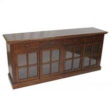 Sideboard 4 Glass Doors Brown or Distressed Blue