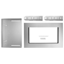 30 in. Microwave Trim Kit for 1.6 cu. ft. Countertop Microwave Oven - Stainless Steel