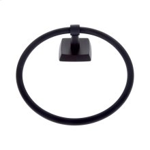 Matte Black Serene Towel Ring