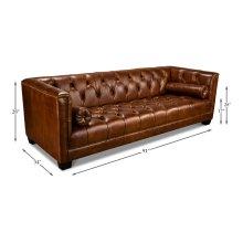 Chamberlain Sofa, Havana Brown Leather