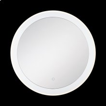 ROUND EDGE-LIT LED MIRROR - Chrome