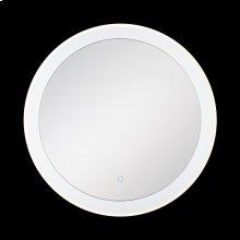 ROUND EDGE-LIT LED MIRROR - Chrome