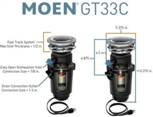 GT Series garbage disposal Product Image