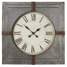 Square Galvanized Wall Clock