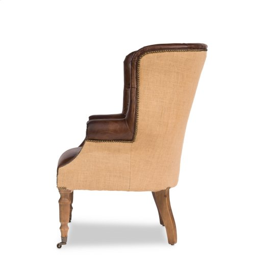 Welsh Leather & Jute Chair