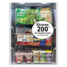 "24"" Professional Freezer - Solid Overlay Panel - Integrated Left Hinge"