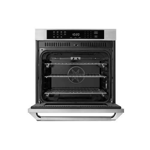 "REFURBISHED - BIG SAVINGS - Heritage 27"" Single Wall Oven, Silver Stainless Steel with Epicure Style Handle / MODEL HWO127ES / 6 MONTH WARRANTY"