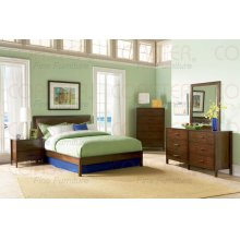 """2 DRAWER N.STAND,WLNT 25-2/5""""x16-1/2""""x24-1/4""""H"""