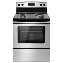 Amana® 30-inch Amana® Electric Range with Self Clean - Black-on-Stainless