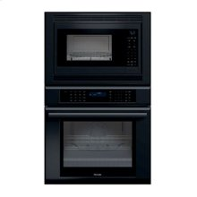 "30"" MASTERPIECE SERIES BLACK COMBINATION OVEN WITH A CONVECTION MICROWAVE AND TRUE CONVECTION OVEN"
