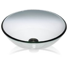 Glass Vessel Clear Round