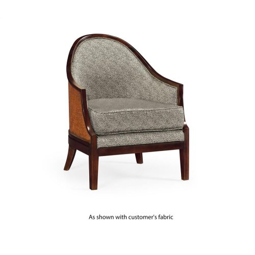 Occasional armchair, upholstered in COM