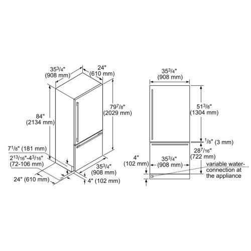 36-Inch Built-in Panel Ready Two Door Bottom Freezer