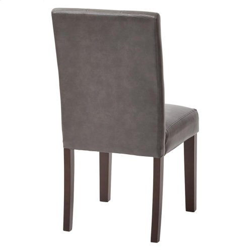 7 Button Dining Chair With Espresso Legs