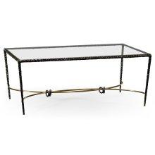 Hammered Anitque Black Brass Rectangular Coffee Table