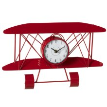 Red Airplane Wall Clock