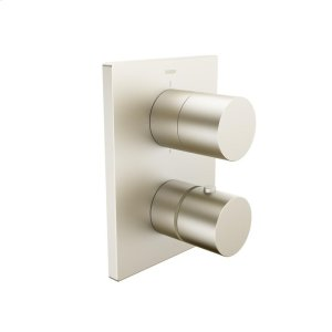 Urban X thermostatic trim kit, with volume control and diverter, brushed nickel Product Image