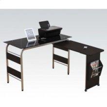 Computer Desk W/bk Glass