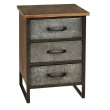 Industrial Three Drawer Cabinet